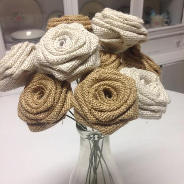 Rustic Wedding Decor Diy Set Of 30 Mixed Ivory An Natural Roses On Stems Wedding Decor Diy