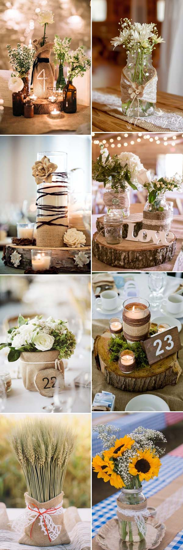 Rustic Wedding Decor Diy The Most Complete Burlap Rustic Wedding Ideas For Your Inspiration