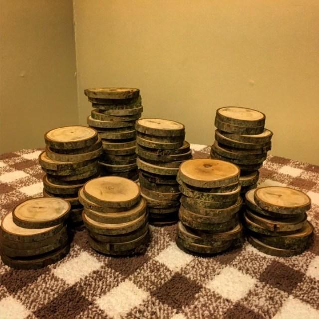 Rustic Wedding Diy 100 3 Wood Slices Rustic Wedding Decor Tree Slices Log