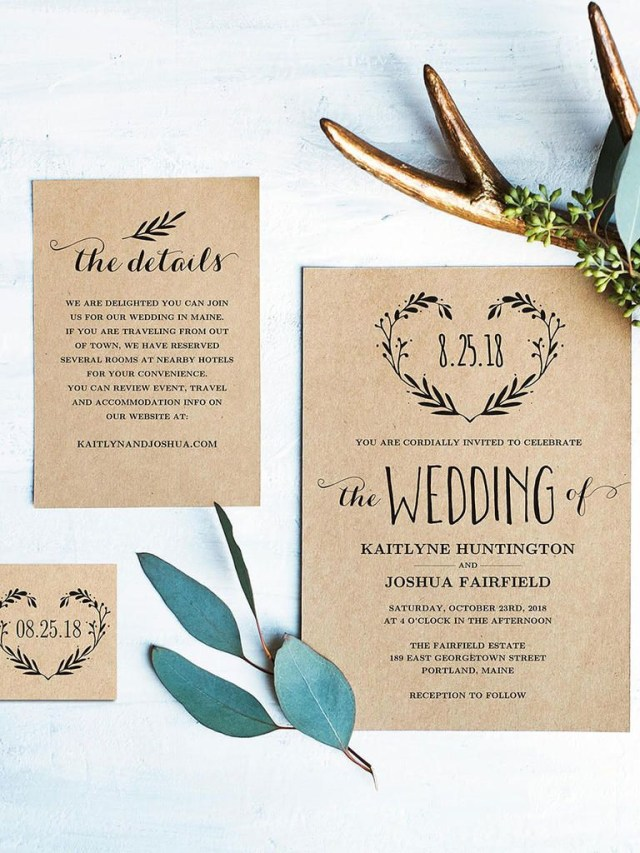Rustic Wedding Invitation 16 Printable Wedding Invitation Templates You Can Diy Wedding