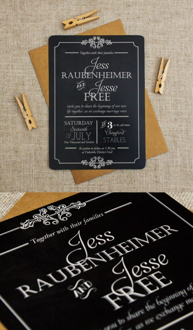 Rustic Wedding Invitation Chalkboard Wedding Invitations Be My Guest