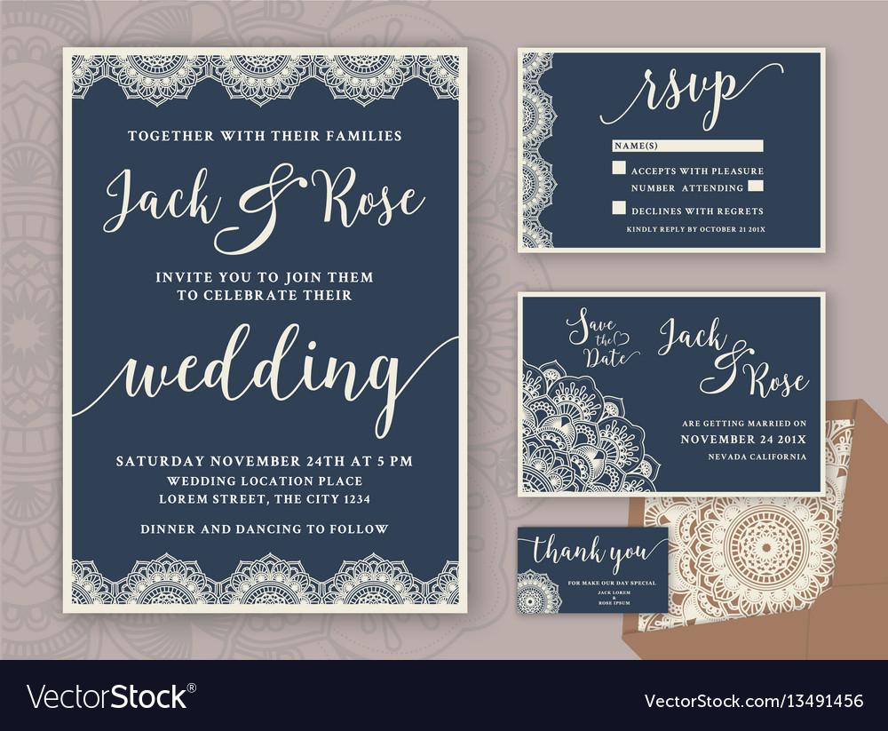 Rustic Wedding Invitation Rustic Wedding Invitation Design Template Vector Image