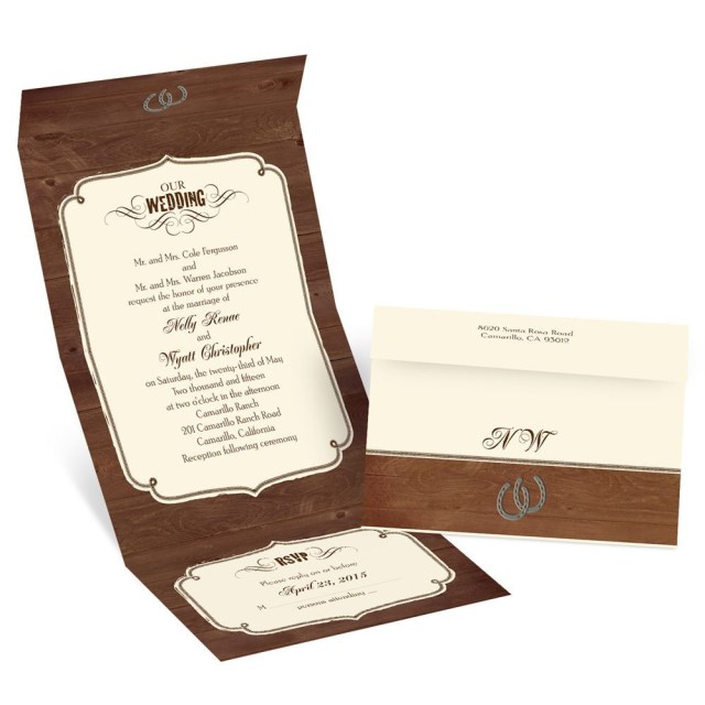 Rustic Wedding Invitation Rustic Wedding Seal And Send Invitation Invitations Dawn