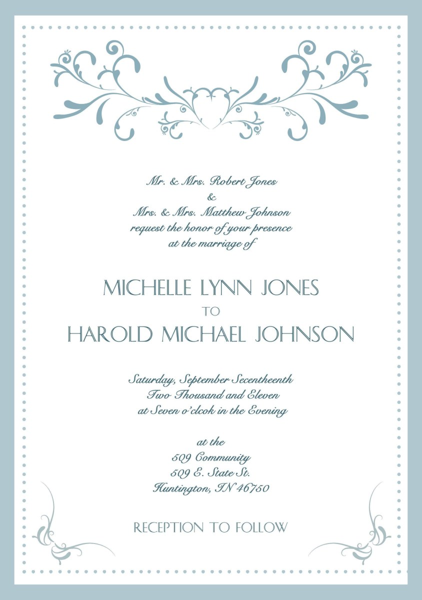 30+ Creative Picture of Samples Of Wedding Invitations