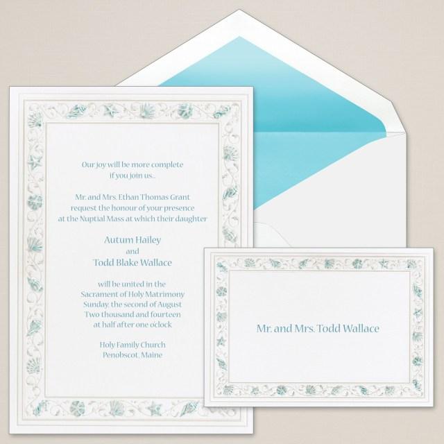 Seashell Wedding Invitations Exclusively Weddings Gathering Sea Shells Wedding Invitation Is A