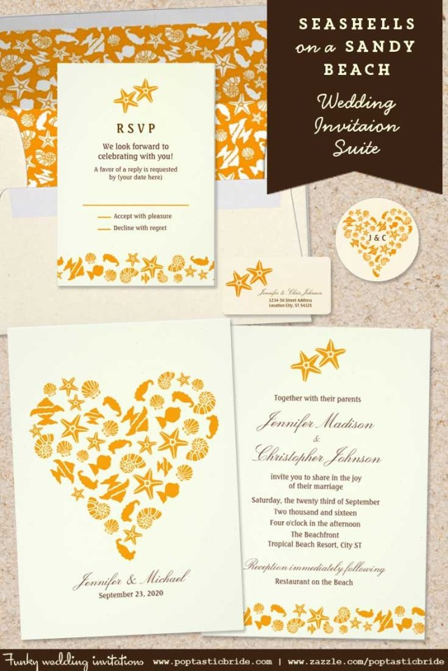 Seashell Wedding Invitations Seashells Wedding Invitations Beach Wedding Invitations Starfish