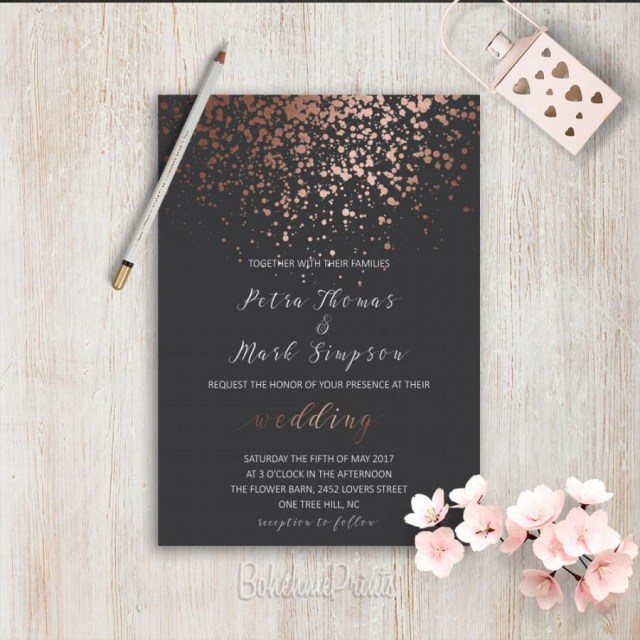 Simple Elegant Wedding Invitations Elegant Wedding Invitations Simple Wedding Invitation Rose Gold Grey