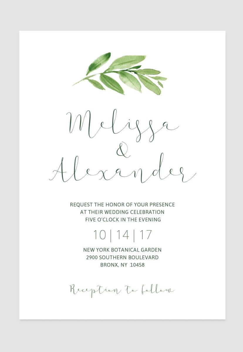 Simple Elegant Wedding Invitations Simple Elegant Greenery Invitation For Your Rustic Elegant Boho