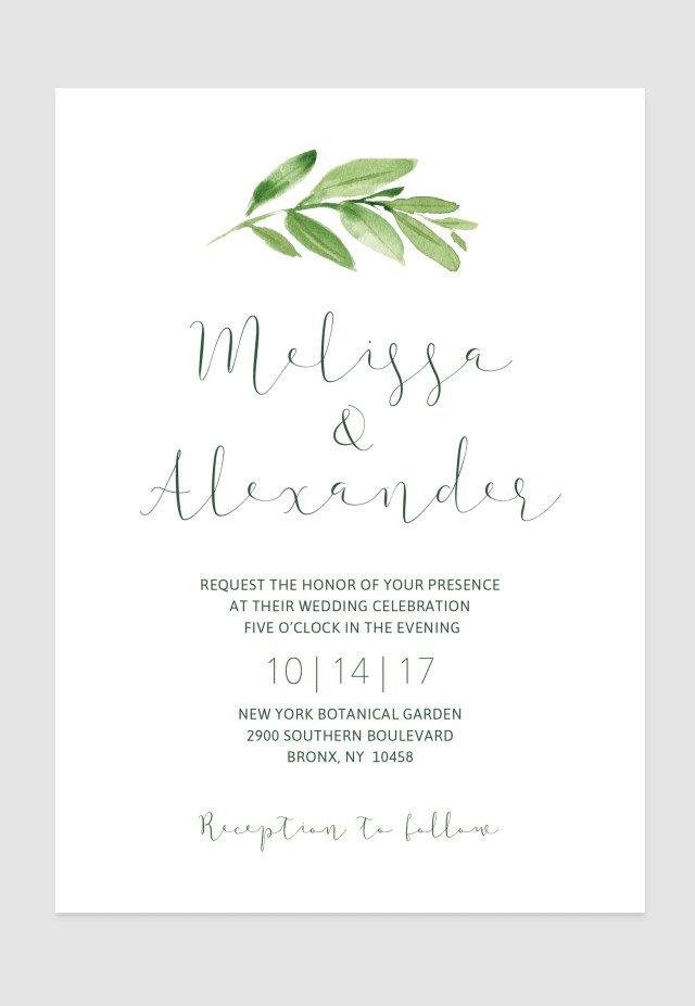 Simple Elegant Wedding Invitations Simple Elegant Greenery Invitation For Your Rustic Elegant Boho