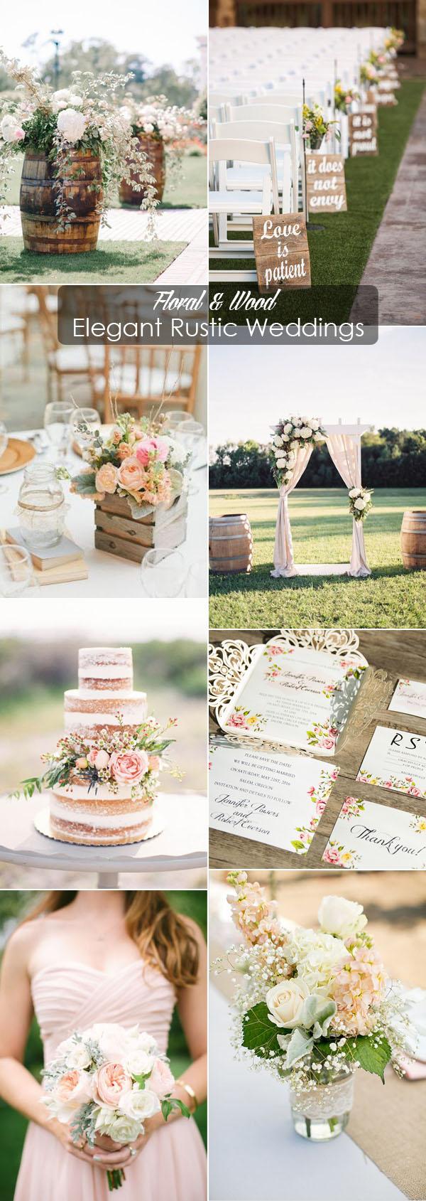 Simple Rustic Wedding Decor 40 Rustic Wedding Ideas With Elegant Details Elegantweddinginvites
