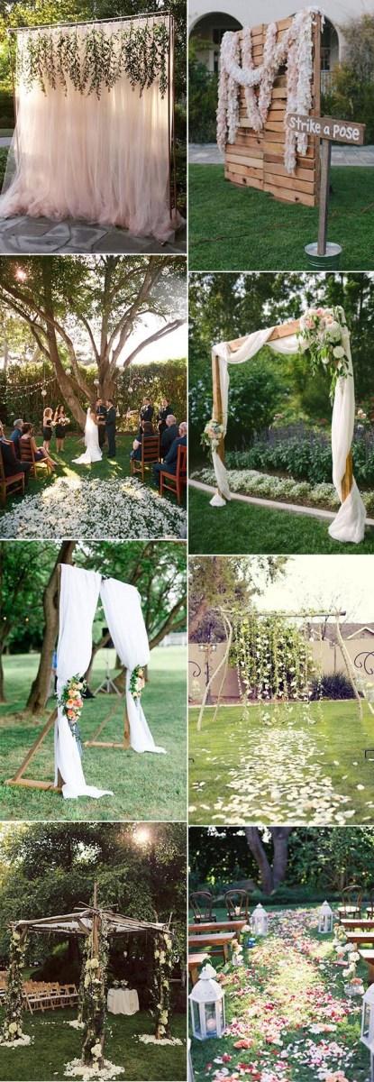 Small Wedding Ideas 30 Sweet Ideas For Intimate Backyard Outdoor Weddings