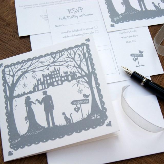 Snowflake Themed Wedding Invitations Belvoir Castle Winter Wonderland Wedding Hummingbird Card Company