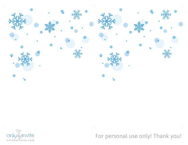 Snowflake Themed Wedding Invitations Free Winter Wedding Invitation Template Only Invite