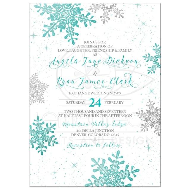 Snowflake Themed Wedding Invitations Wedding Ideas Snowflake Wedding Invitations Grandioseparlor