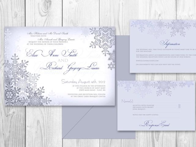 Snowflake Themed Wedding Invitations Winter Wedding Invitations Blue Wwwparadisecustomweddings