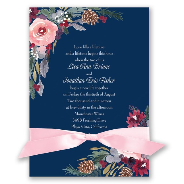 Snowflake Themed Wedding Invitations Winter Wedding Invitations Invitations Dawn