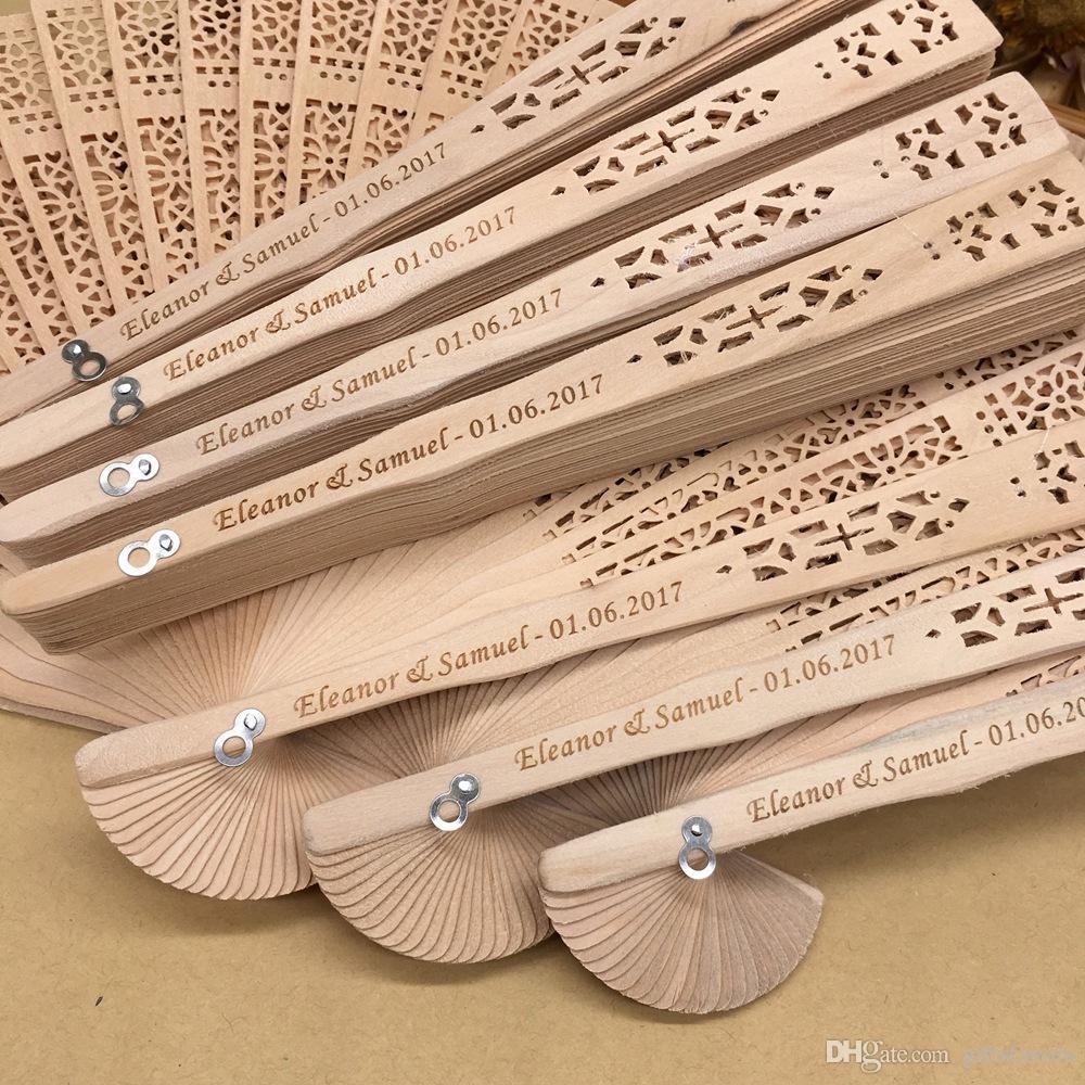 Souvenir Ideas Wedding Personalized Sandalwood Hand Fans Wholesales Wedding Souvenirs