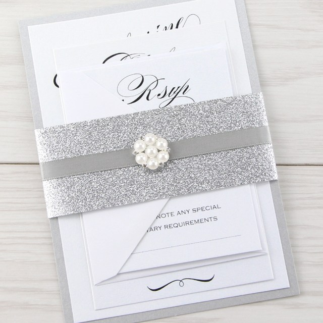 Sparkle Wedding Invitations Glitter Wedding Invitations Pure Invitation Wedding Invites