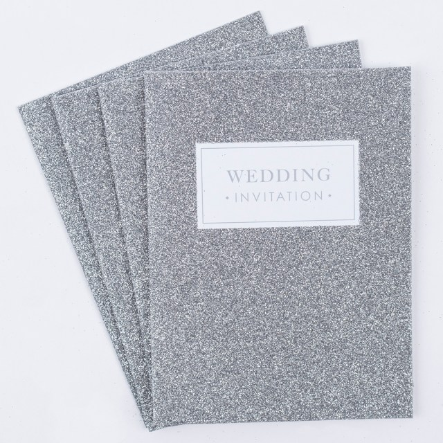 Sparkle Wedding Invitations Glittery Wedding Invitations Pack Of 20 Only 399