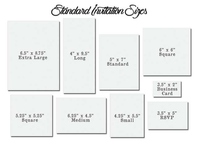 30  amazing picture of standard wedding invitation size