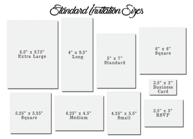 Standard Wedding Invitation Size Rsvp Envelope Size Chart Idasponderresearchco