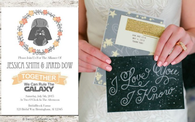 Star Wars Wedding Invitations Guides For Brides The Wedding Directory