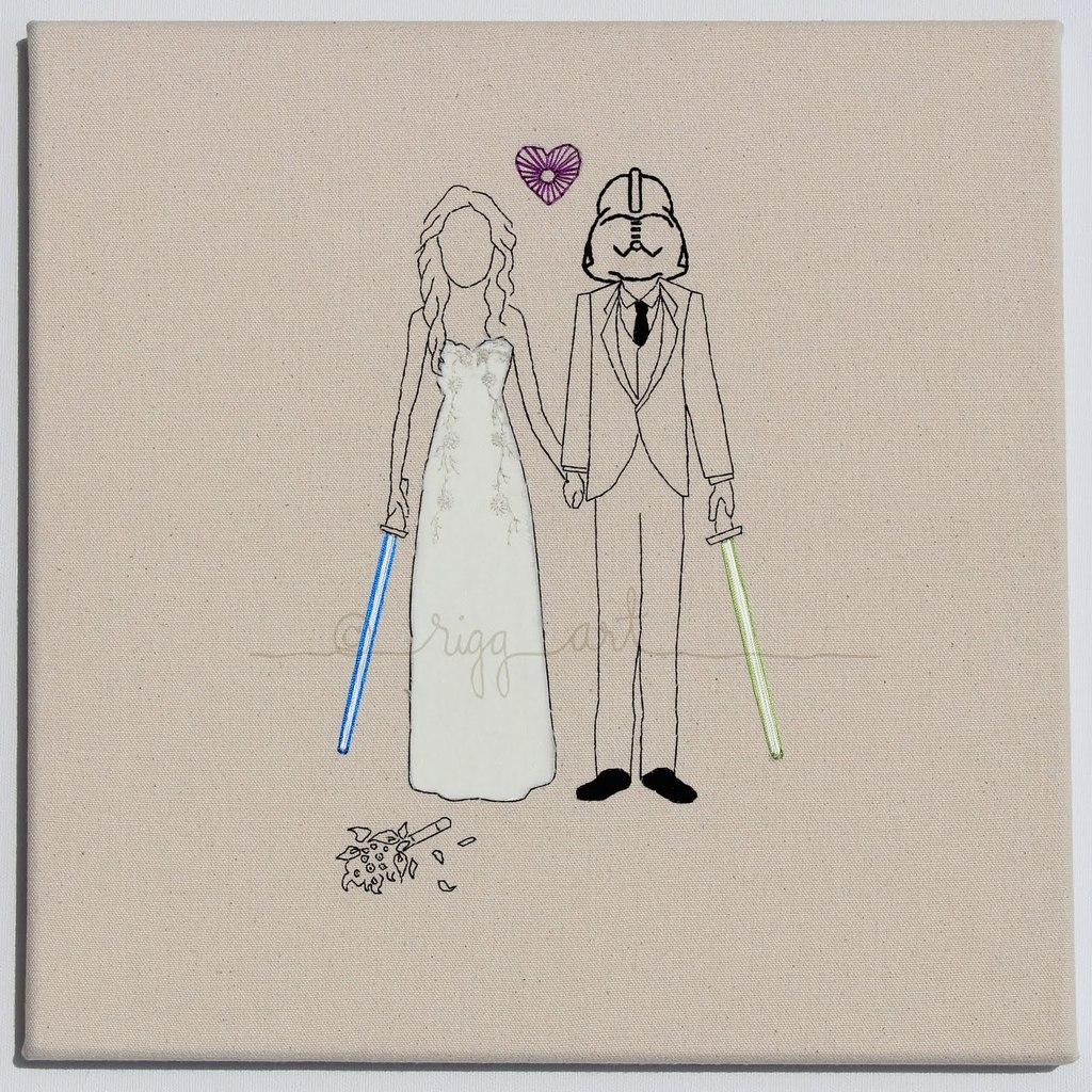 Star Wars Wedding Invitations Star Wars Bride Groom Wedding Portrait