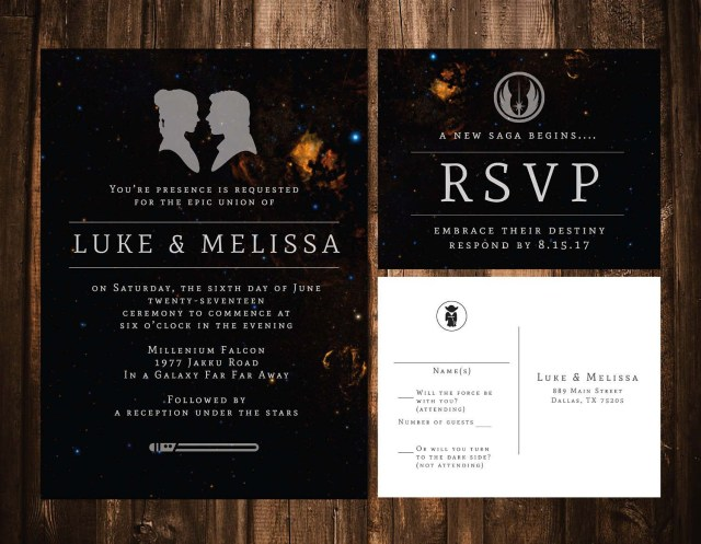 Star Wars Wedding Invitations Star Wars Wedding Invitation Wedding Invitation Template Galaxy