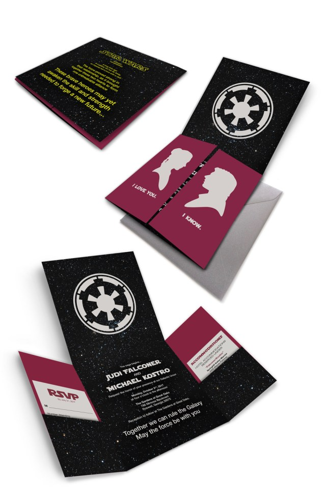 Star Wars Wedding Invitations Star Wars Wedding Invitations Christina K Fulsang