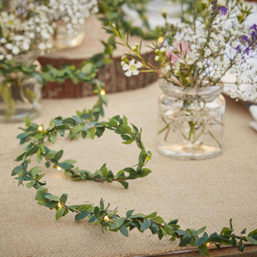 Table Lights Wedding Foliage String Fairy Light Wedding Table Decoration Ginger Ray