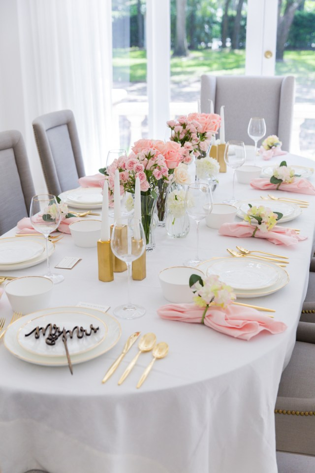 Tablescapes Ideas Wedding Pink Bridal Shower Tablescape Fashionable Hostess
