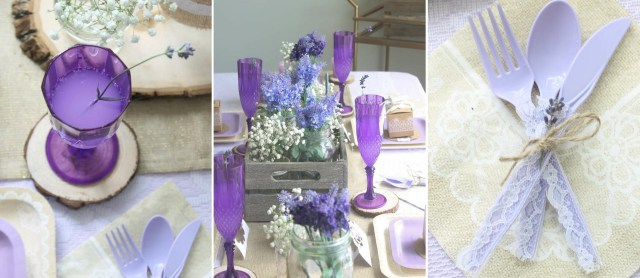 Tablescapes Ideas Wedding Rustic Lavender And Lace Wedding Tablescape Fun365