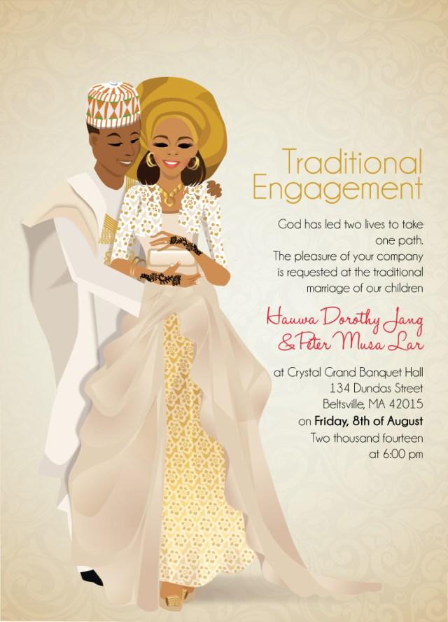 Traditional Wedding Invitation Nigerian Traditional Wedding Invitation Card