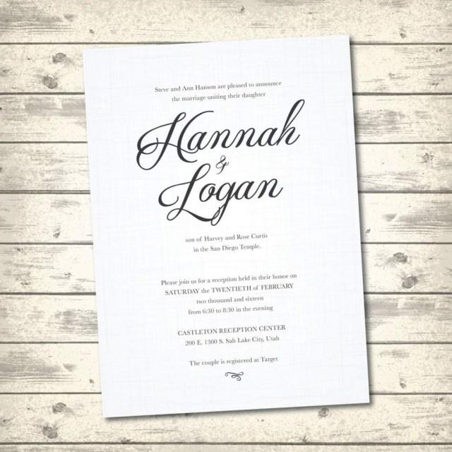 Traditional Wedding Invitation Wedding Invitation Verbiage Wedding Ideas Traditional Wedding