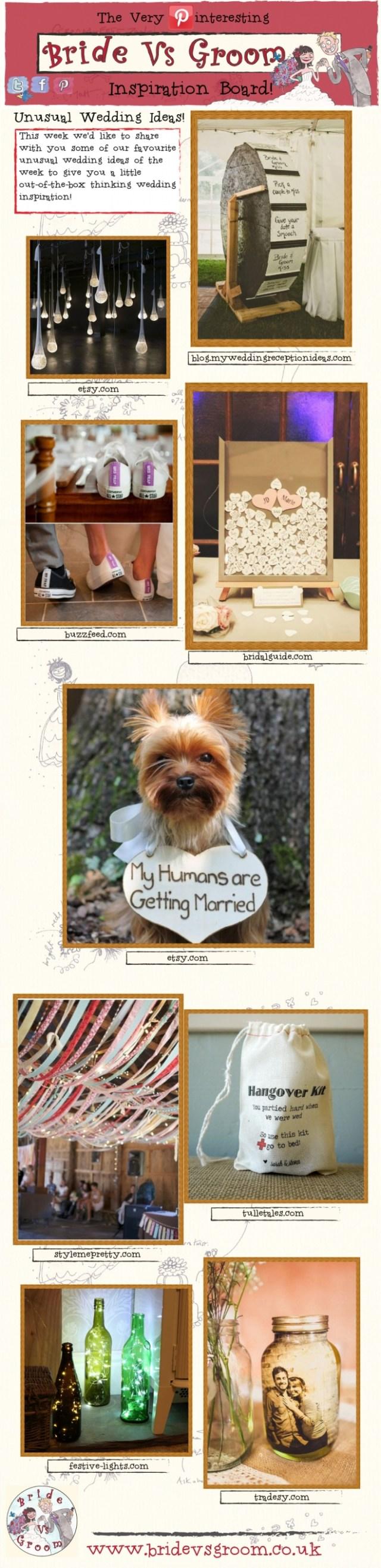 Unusual Wedding Ideas Unusual Wedding Ideas Inspiration Board Bride Vs Groom