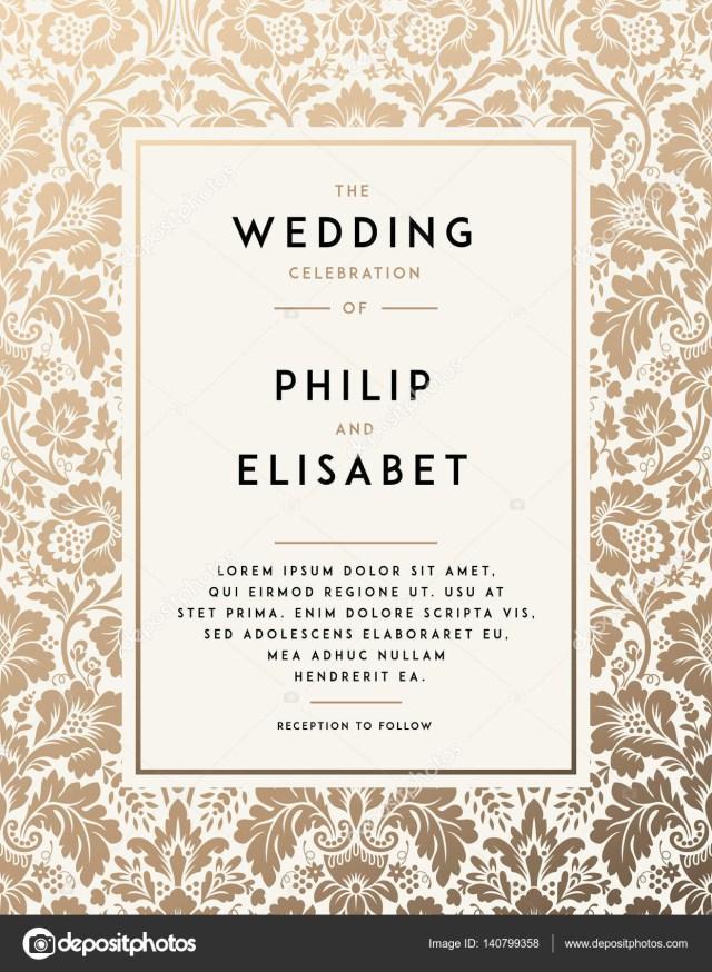 Vintage Wedding Invitation Templates Vintage Wedding Invitation Template Stock Vector Greeek 140799358