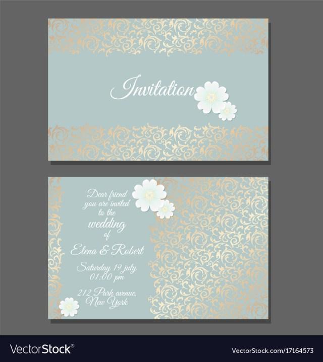 Vintage Wedding Invitation Templates Vintage Wedding Invitation Templates Cover Design Vector Image