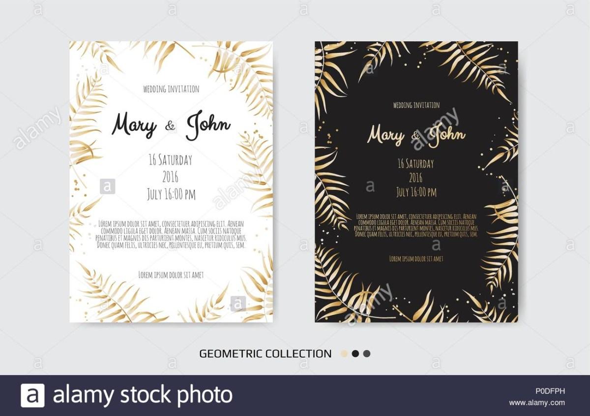 Vintage Wedding Invitation Templates Vintage Wedding Invitation Templates Cover Design With Gold Leaves