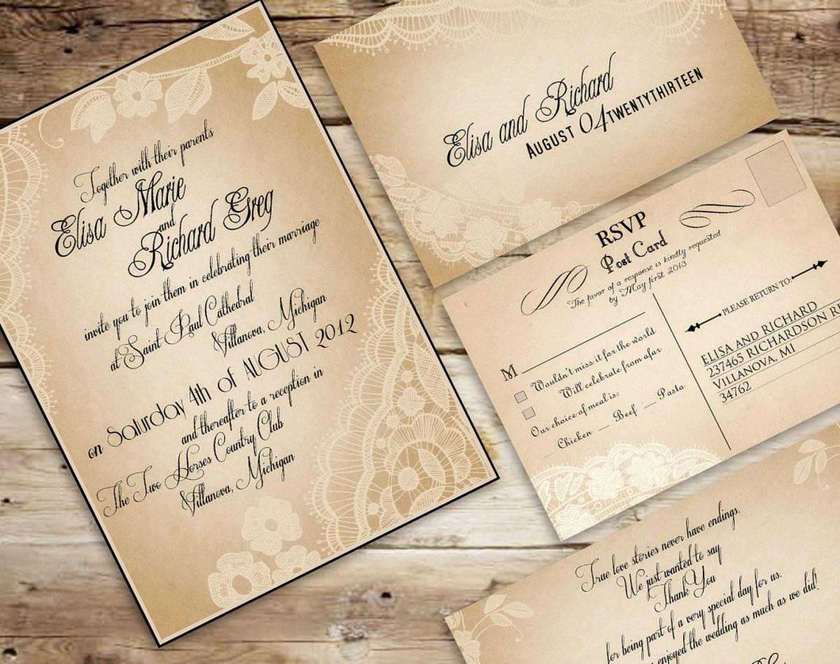 Vintage Wedding Invitation Templates Vintageweddinginvitationtemplates Invite Ideas In 2018