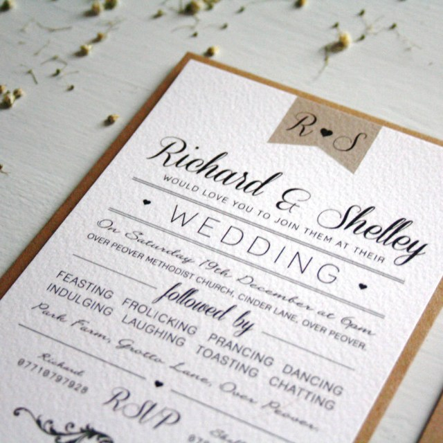 Vintage Wedding Invitations Elegant Type Vintage Wedding Invitation Rodo Creative