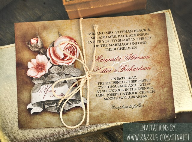 Vintage Wedding Invitations Old Vintage Wedding Invitations Need Wedding Idea