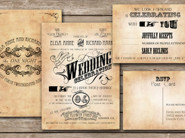 Vintage Wedding Invitations Tips To Make An Unforgettable Wedding Invitation Wordinginterclodesigns