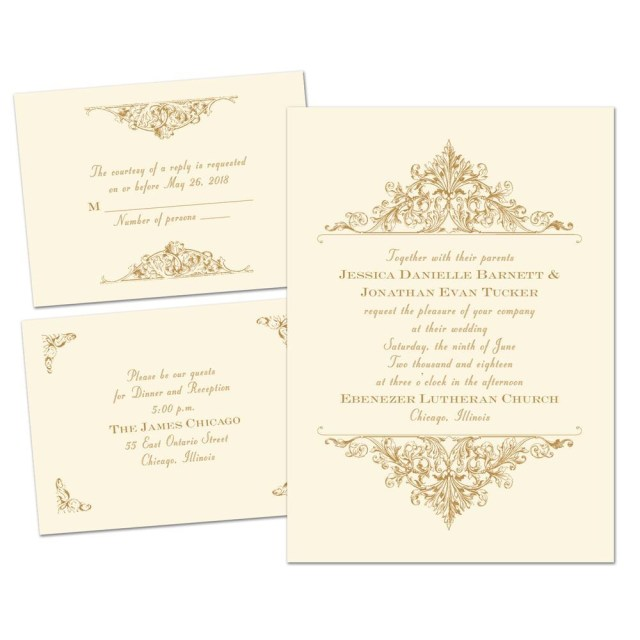 Vintage Wedding Invitations Vintage Victorian Separate And Send Invitation Anns Bridal Bargains