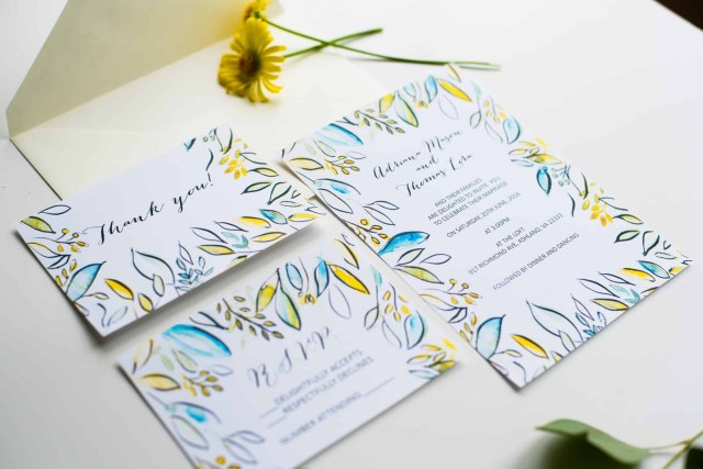 Watercolor Wedding Invitations Watercolor Wedding Invitation Kit Place Of My Taste