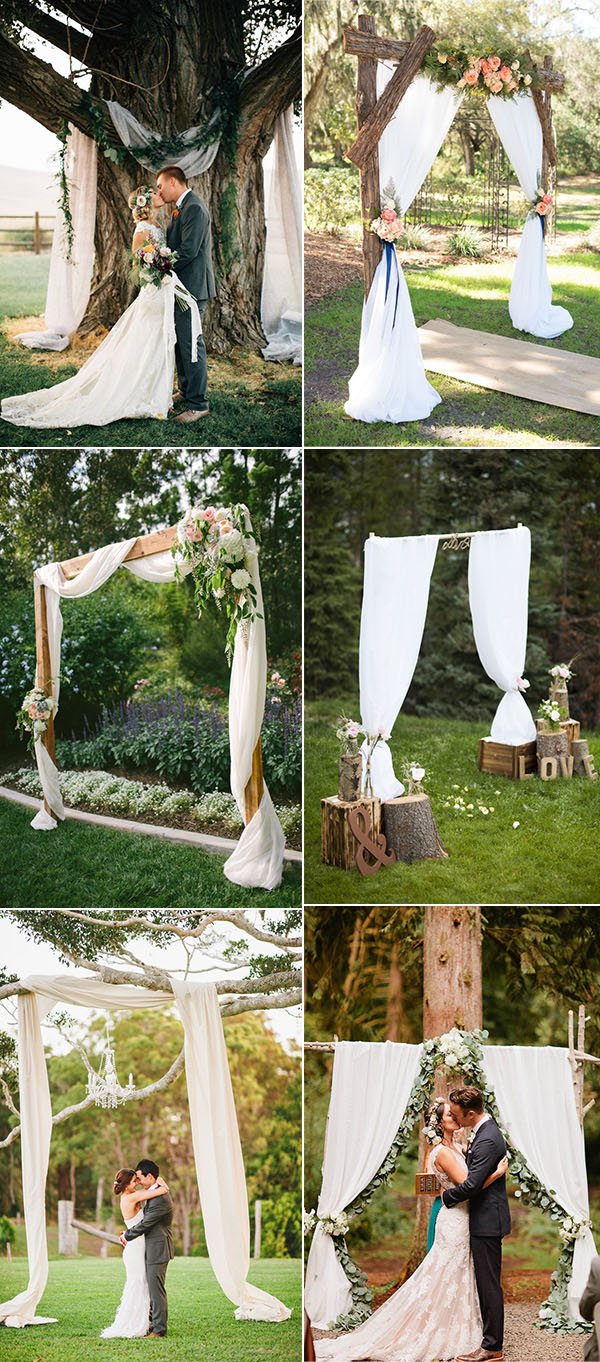 Wedding Alter Decorations 25 Chic And Easy Rustic Wedding Arch Ideas For Diy Brides
