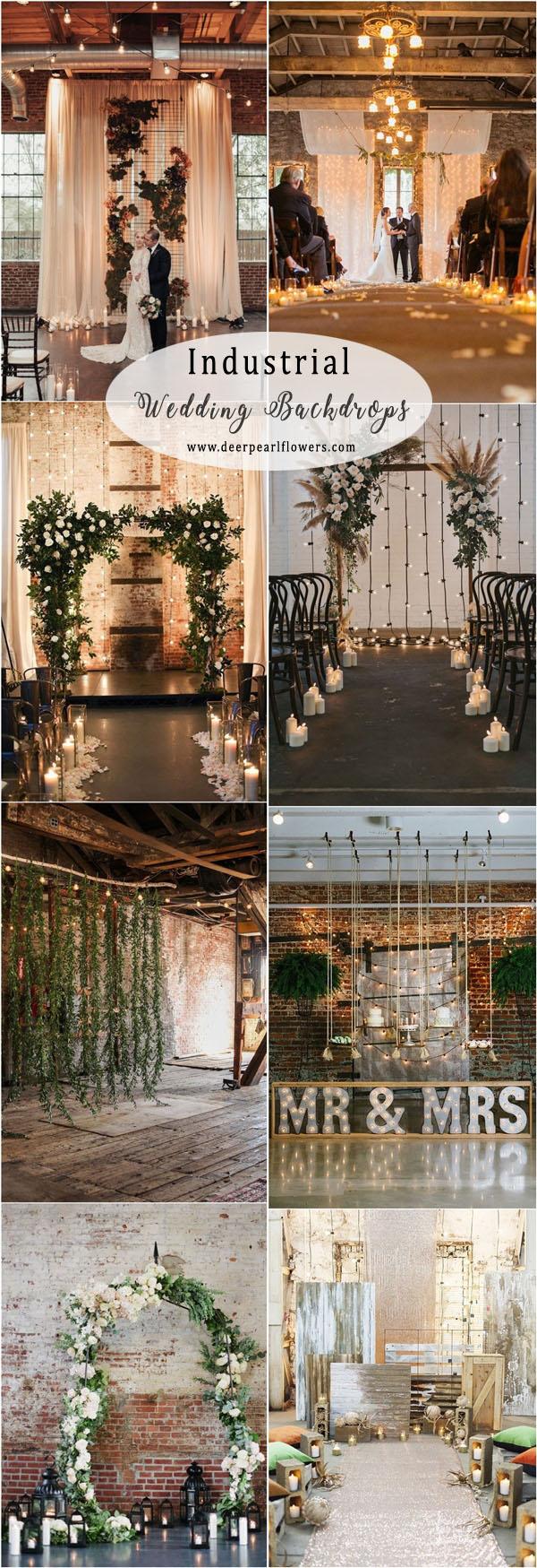 Wedding Backdrop Ideas 20 Industrial Loft Style Wedding Ceremony Backdrop Ideas Deer