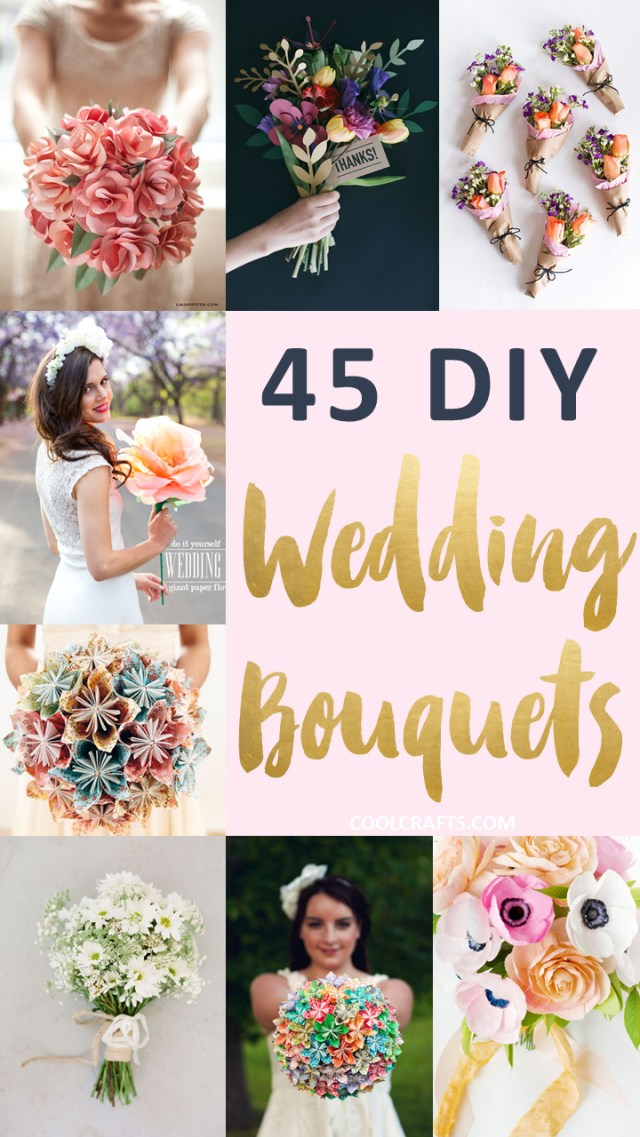 Wedding Bouquets Diy 45 Stunning Wedding Bouquets You Can Craft Yourself Cool Crafts