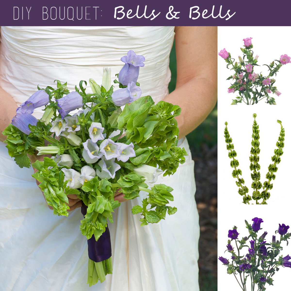 Wedding Bouquets Diy Diy Wedding Bouquet Canterbury Bells And Bells Of Ireland