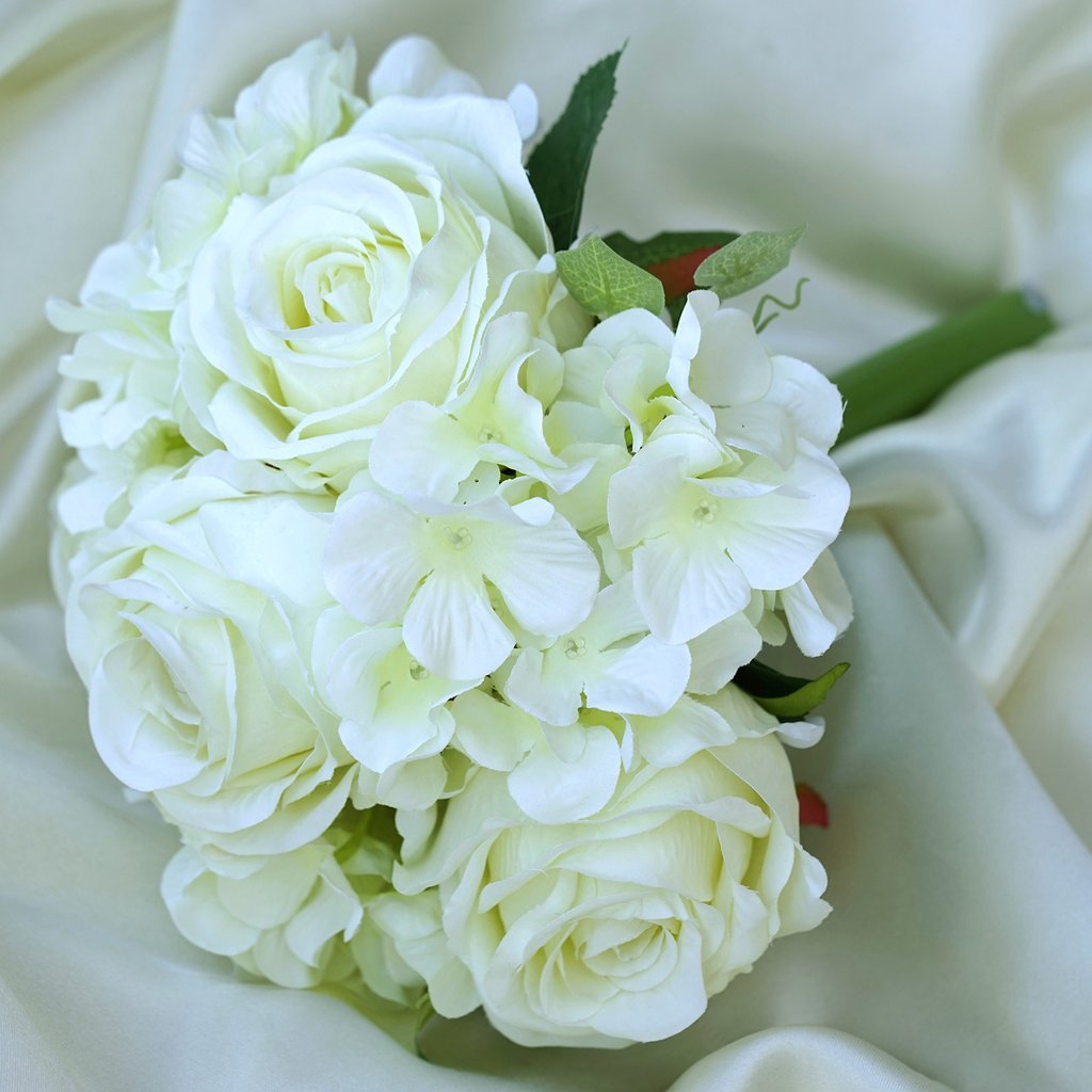 Wedding Bouquets Diy Efavormart 4 Bouquets Of Realistic Artificial Rose Hydrangea Flower