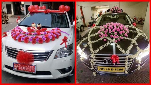 Wedding Car Decorations Ideas Beautiful Wedding Car Decoration Bridal Car Flowers Decoration